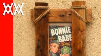 How To Make A Picture Frame Out Of Paper - make a rustic picture frame with pallet wood