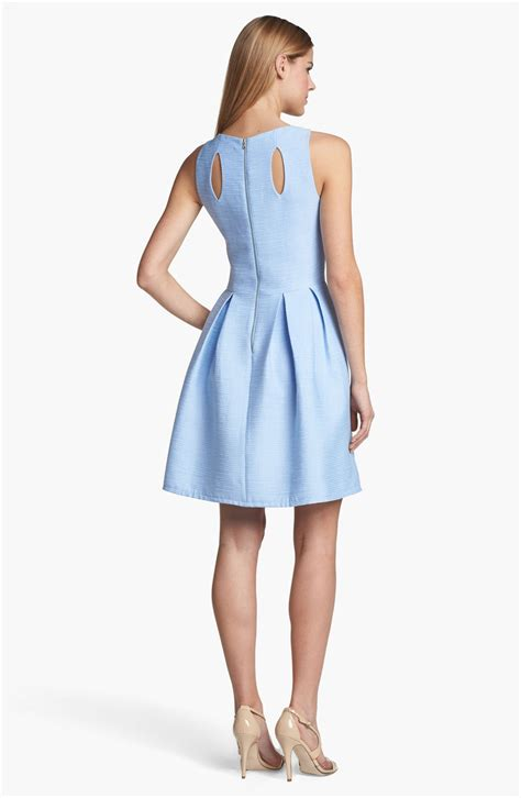 Dress Flare An dresses cutout detail fit flare dress in blue