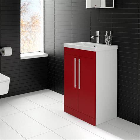 red vanity units for bathroom add a bright splash of colour to your bathroom with this