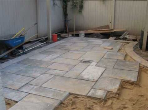 how to install a blue patio