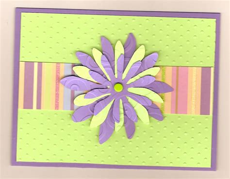 Easy Handmade Cards - how to make a flower card hobby