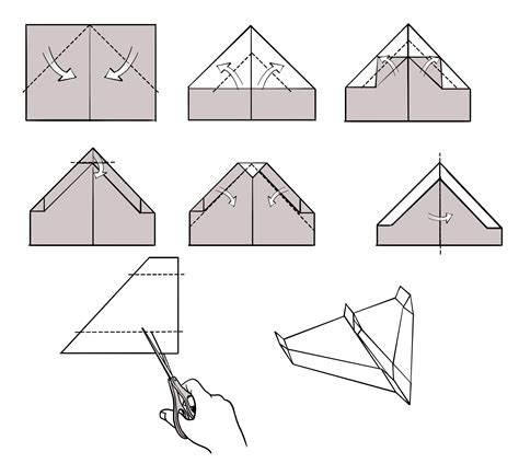 Paper Plane Folding Template - power kit to make paper airplanes fly turner toys