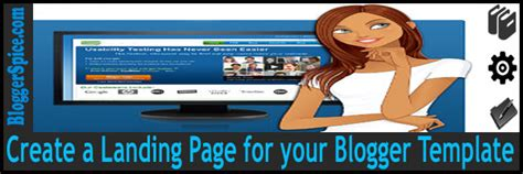 landing page templates for blogger create a custom landing page for your blogger site