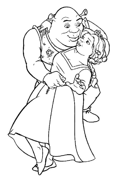 coloring pages shrek coloring pages