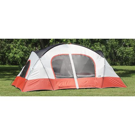cabin tents texsport 174 bull canyon 2 room cabin dome tent apricot