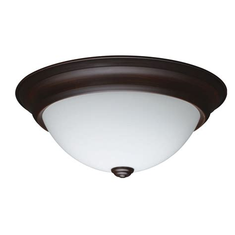 Flush Mount Led Ceiling Light Shop Project Source 13 In W Bronze Integrated Led Ceiling Flush Mount Light At Lowes