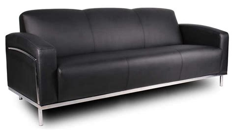 Steel Frame Sofa by 3 Black Contemporary Leather Sofa Set With Discount Price