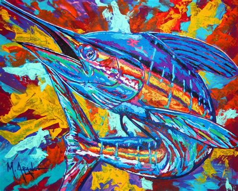 marlin explosion m arango art paintings amp prints