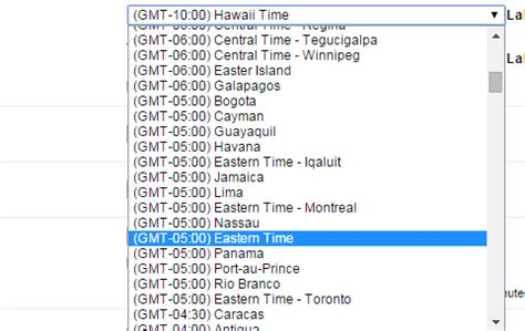 Calendar Zone Offset Gmt Offset To Php Timezone Stack Overflow