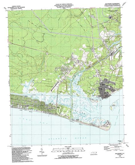 map of southport carolina southport topographic map nc usgs topo 33078h1