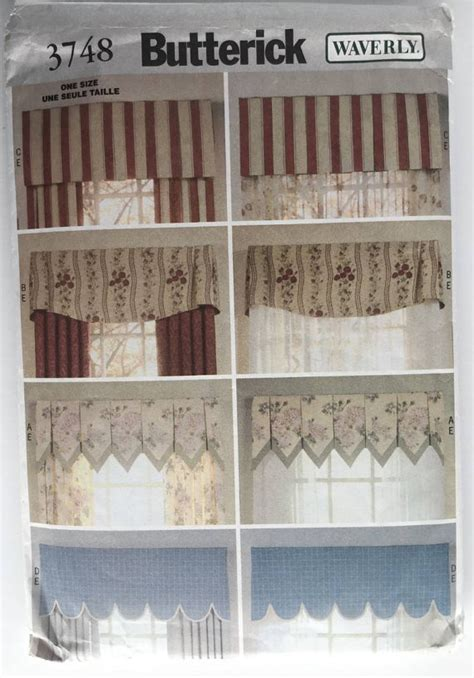 butterick curtain patterns butterick 3748 sewing pattern for curtain valances and drapes