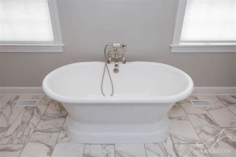 gray white transitional bath