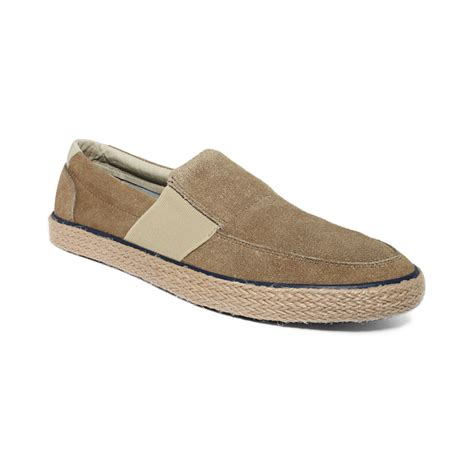 sperry top sider low profile vulc slip on shoes in beige