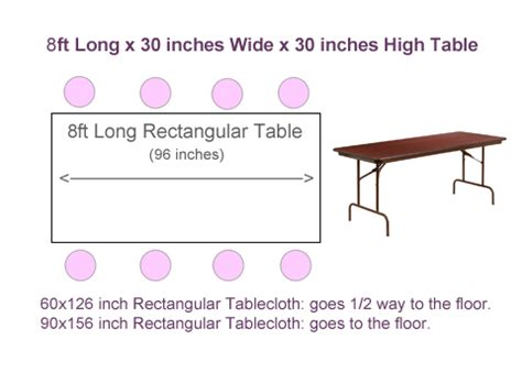 what size tablecloth for 6ft rectangular table what size tablecloth for 8ft rectangular table