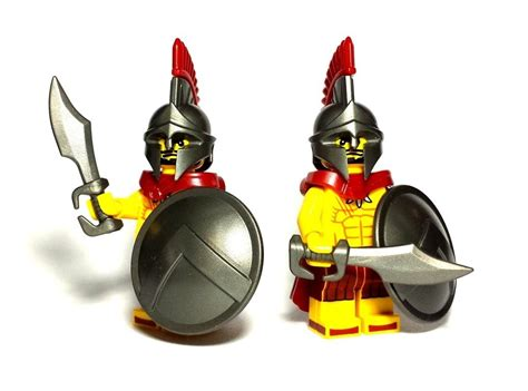 Lego Minifigure With Shield And Sword custom lego weapon of the week spartan sword custom lego swords and lego