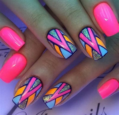 bright pattern nails 25 best ideas about bright nail art on pinterest fun