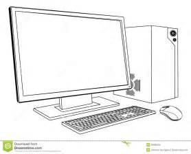Computer Desktop Drawing Desktop Pc Computer Workstation Stock Images Image 26886594