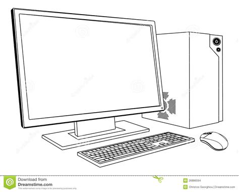 how to make doodle in computer desktop pc computer workstation stock images image 26886594