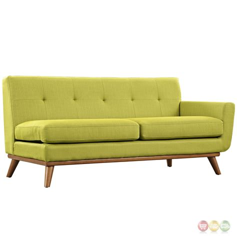 Modern L Shaped Sofa Engage Contemporary L Shaped Sectional Sofa With Button Accents Wheat