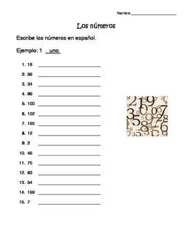 the gallery for gt numeros en espanol worksheet