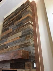 Reclaimed Fireplace by S Reclaimed Wood Accent Wall With Custom Mantle