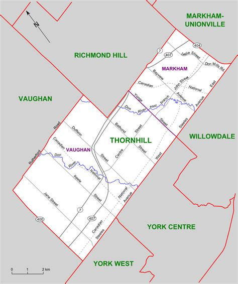 file thornhill riding map png wikimedia commons