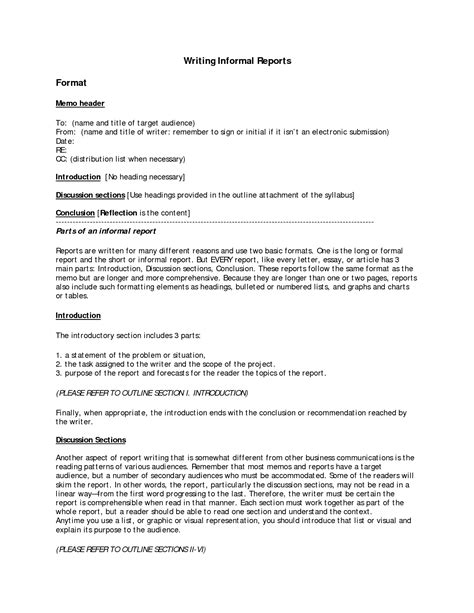 business report writing sle pdf best photos of report format sle letter report format