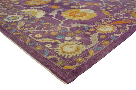 Contemporary Turkish Oushak Rug With Modern Style Purple Modern Purple Rug
