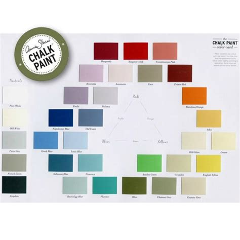 Wall Ideas by Annie Sloan Chalk Paint Color Card Royal Design Studio