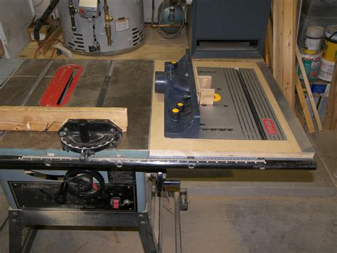 Old Table Saw New Router Extension Router Forums