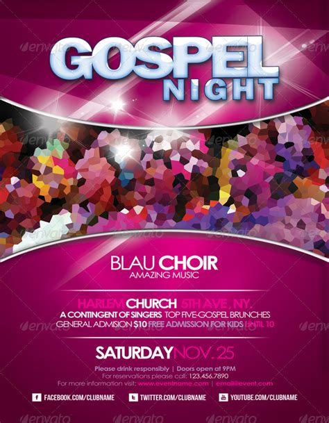 gospel flyer by adoralia graphicriver