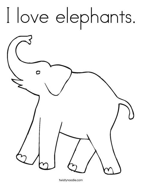 elephant love coloring page i love elephants coloring page twisty noodle