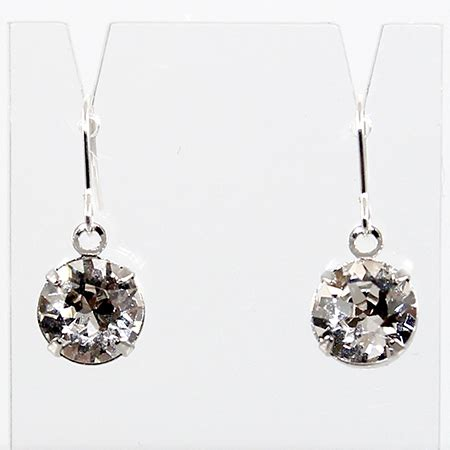 Earrings Curved Swarovski Ab Silver Rhodium drop earrings swarovski 169 rhodium