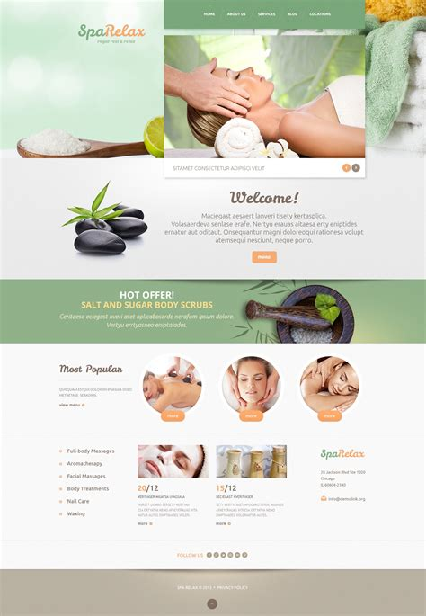 spa website inspiration spa salon wordpress theme 47994