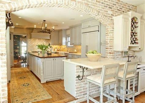 brick in kitchen arco de separaci 243 n de cocina americana revestido en