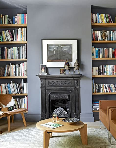 Living Room Alcove Shelving Ideas Use Paint To Create A Living Room Brimming With Character