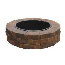 Shop country stone fire ring firepit patio block project kit at lowes