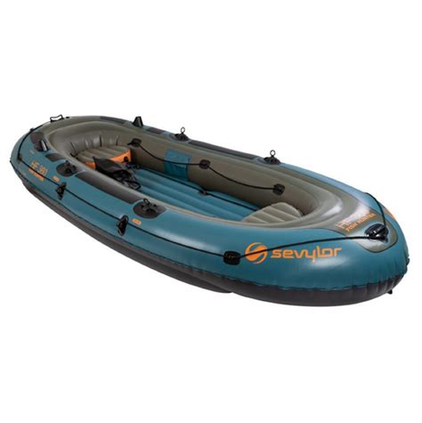 sevylor inflatable fishing boat sevylor fish hunter inflatable 6 person boat my water