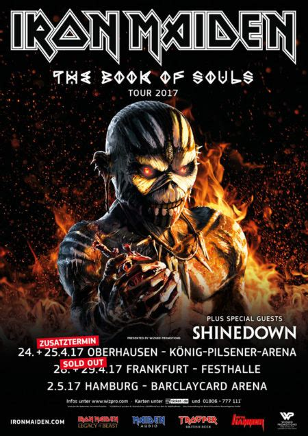 on tour 1973 2017 books iron maiden the book of souls tour 2017 wizard promotions