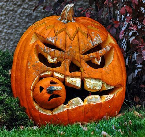 Unique Halloween Decorating Ideas Double Pumpkin Decorations Plans Iroonie Com