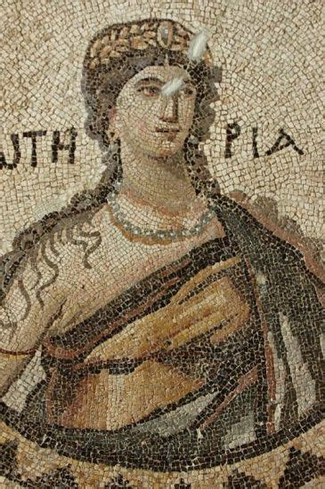 Discovery Of The Floor History - detail of mosaic from the floor of the 5th century bath of