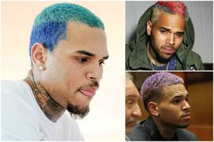 chris brown hair color chris brown s changing hair color page six