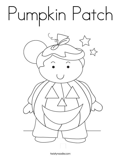 Pumpkin Patch Coloring Page Twisty Noodle Pumpkin Patch Coloring Page