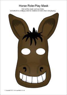 free printable nativity animal masks good for saul s lost donkeys story donkey role play masks