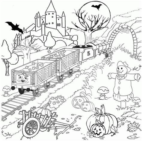 advanced halloween coloring pages to print halloween adult coloring pages coloring home