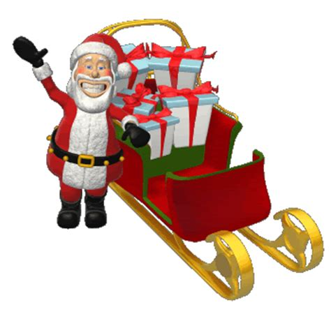 animated gif of santa claus and gifts and free images