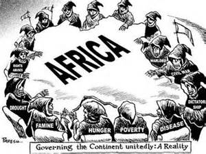 Think the artist of this cartoon felt that africa had become a huge