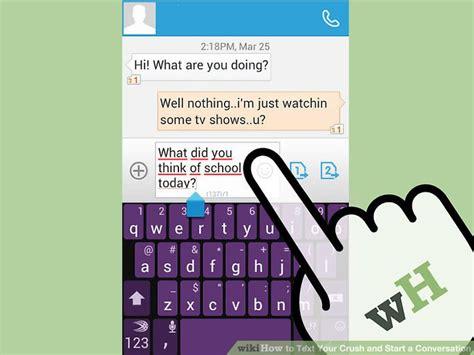 preguntas de si o no para mi crush how to text your crush and start a conversation 14 steps