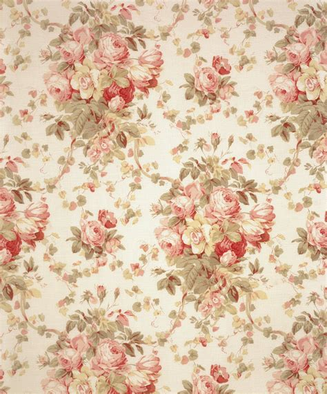 english pattern design peonies and paint fall flush