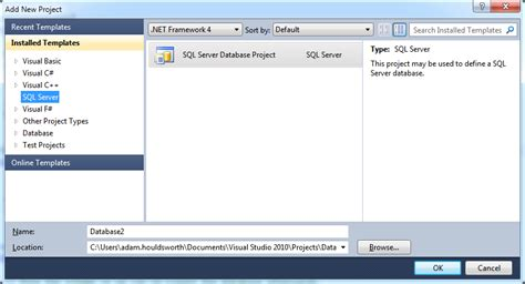 Report Template For Visual Studio 2008 Visual Studio 2005 Database Project Template Http
